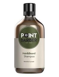 Освежающий шампунь Farmagan Point Barber Hair & Beard Shampoo, 300 мл. для волос и бороды