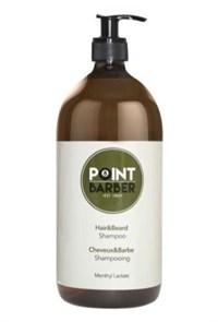 Освежающий шампунь Farmagan Point Barber Hair & Beard Shampoo, 1000 мл. для волос и бороды