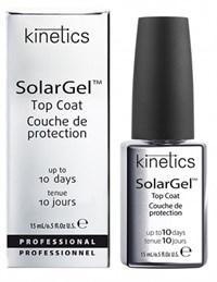 Верхнее покрытие Kinetics SolarGel Top Coat, 15 мл. с гелевым эффектом и супер глянцем