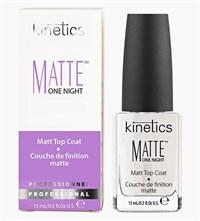Матовый топ Kinetics Matte One Night Top Coat, 15 мл. верхнее покрытие для лака