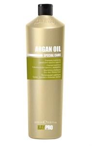 Питательный шампунь KAYPRO Argan Oil Shampoo, 1000 мл. с аргановым маслом для сухих, тусклых, безжизненных волос