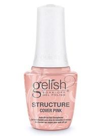 Укрепляющий гель с кисточкой Gelish Structure Gel Cover Pink, 15 мл. камуфлирующий розовый