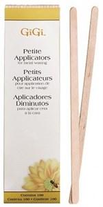 GiGi Spatula Petite, 100шт - Деревянный шпатель закругленный, мини