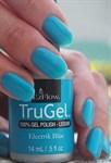 """EzFlow TruGel Electrik Blue, 14мл - гелевый лак """"Электросиний"""" - фото 22594"""
