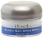 IBD Builder Gel Ultra White, 14гр. - ярко-белый моделирующий гель для наращивания ногтей