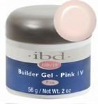 IBD LED/UV Builder Gel Pink IV, 56 г. – теплый розовый камуфлирующий гель для наращивания ногтей