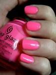"""China Glaze Neon Shocking Pink, 14мл.-Лак для ногтей """"Неоновый. Шокирующе розовый"""" - фото 7726"""
