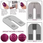 China Glaze Magnet - магнит на три дизайна: линии, сетка, круги - фото 8220