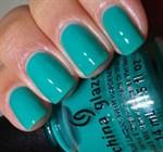 """China Glaze Keeping It Teal, 14мл - Лак для ногтей """"Пусть будет зеленый!"""" - фото 8389"""